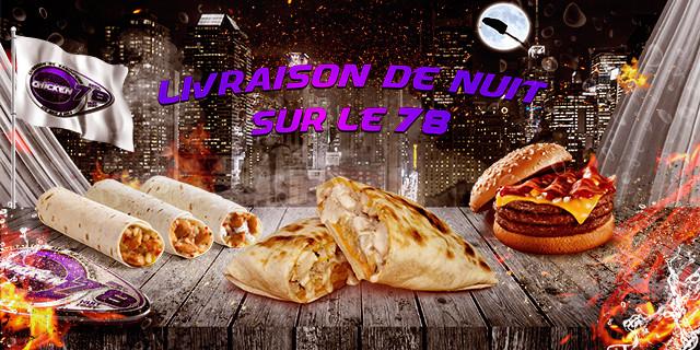 livraison sandwich nuit 78