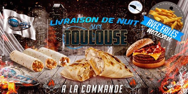 livraison nuit sandwich à la commande Toulouse